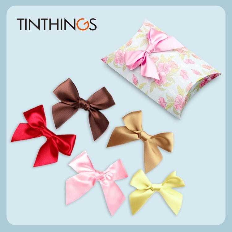 36 PCS 75x55mm Small Ribbon Bow 25mm Wide Polyester Satin Gift Bows Wedding Decoration Crafts Handmade DIY Favor