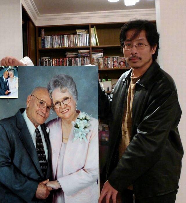 Bon portrait artiste peintre Service-TOP ART Service personnalisé Photo Photo peinture à l'huile-100% peinture à l'huile peinte à la main