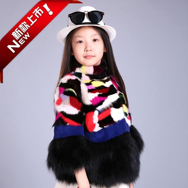 Cheap 2016 New Kids Girls Winter Coat mink coat really Plush children baby fur coat bag mail