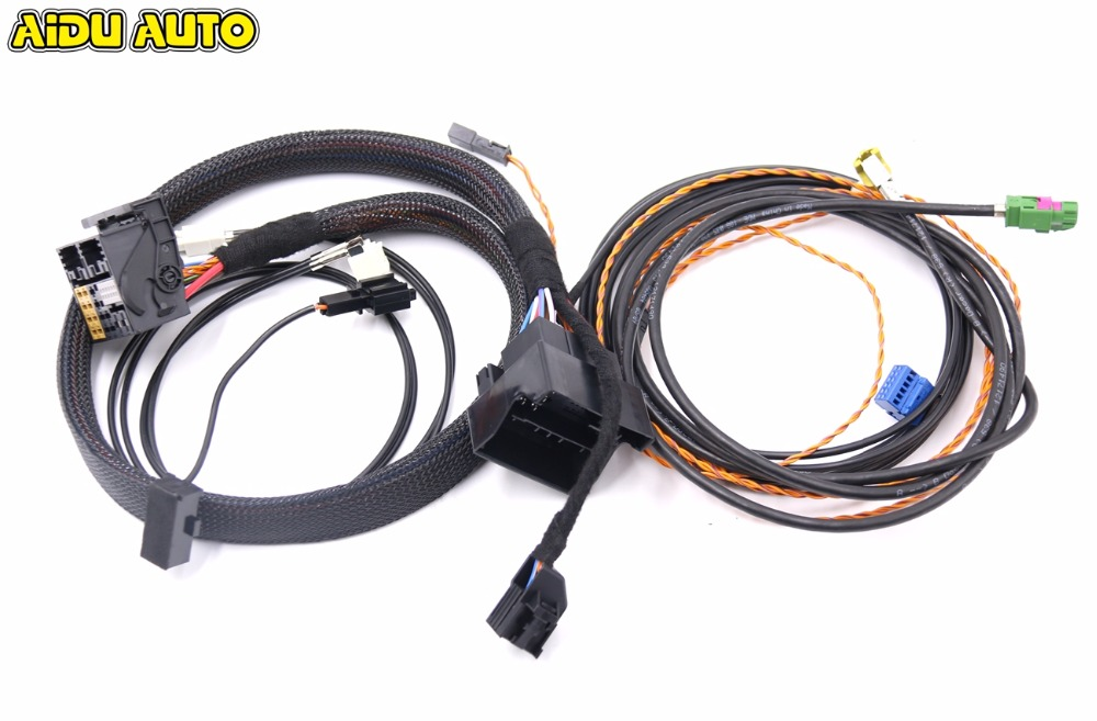 MIB STD2 ZR NAV Discover Pro Radio Adapter Cable Wire harness For Golf 7 MK7 auto leveling range headlight cornering afs wire cable harness for vw golf 7 mk7