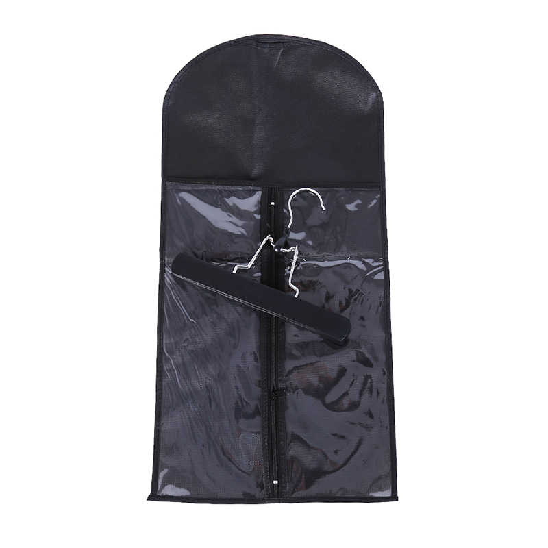 2018 Hot Hair Extensions Storage Bag Non-woven Suit Case Carrier Package Metal Hanger Virgin Hair Weft Clip Home Supplies New