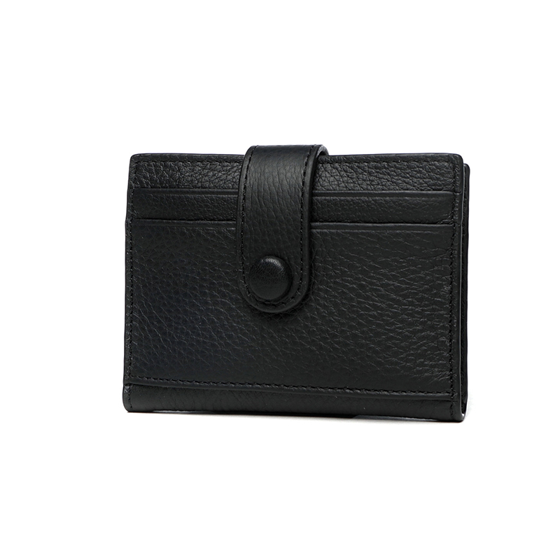 Korean Version Genuine Leather Wallet Female Multi-card Bit Coin Lady Cowhide Credit Card Bank Card Folder Thin Business Purse