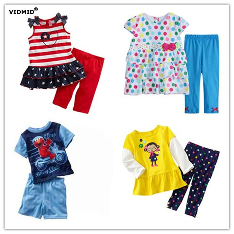 Children sets Girls short sleeve clothing sets boys Summer t-shirt + pants kids suits Clothes trousers Tops Kids Cotton pajamas year cotton long sleeves baby kids children suits boys pajamas christmas girls clothing sets clothes