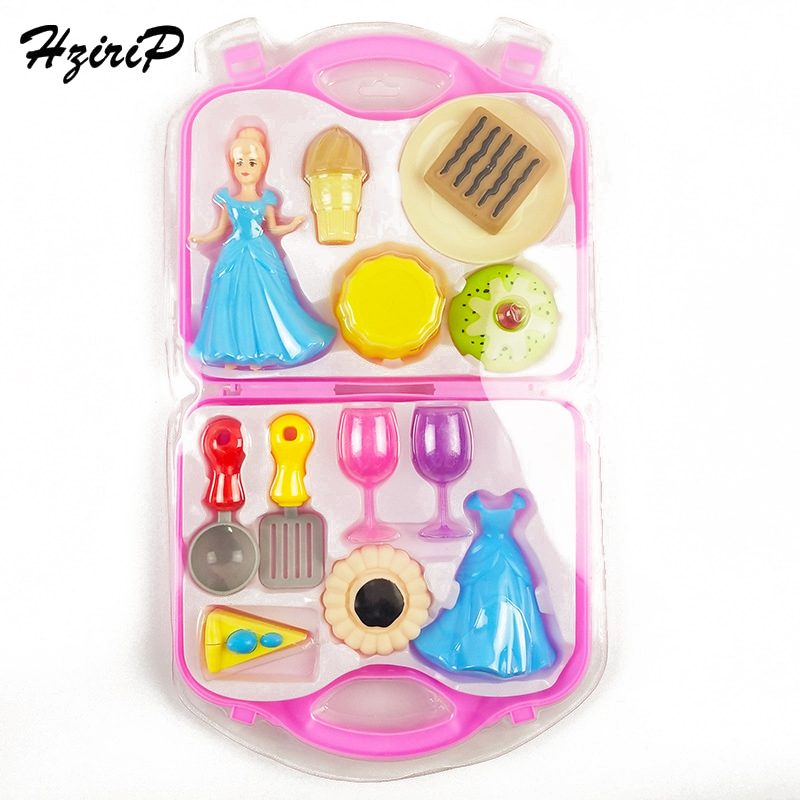 HziriP New Girls Doll Gift Box Kitchen Pretend Play Toys Sets Mini Ice Cream Simulation Cake Kids Childrens Educational Toys