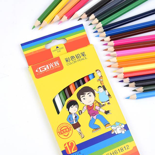 12 24 colored pencils Colorful Drawing Pencil set Sketching fine ...