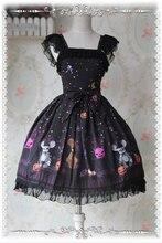 Lolita Dress Halloween Night Girls Sweet Princess Dress JSK Daily Clothing Black/Red/Purple