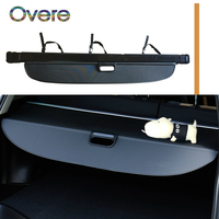 Overe 1Set Car Rear Trunk Cargo Cover For Audi Q7 2016 2017 2018 Car styling Black Security Shield Shade Auto accessories