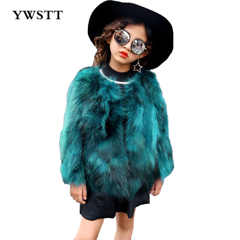 Children Real Crystal Fox Fur Coat 2017 New Autumn Winter Girls Boys Natural Fur Coat Clothing Warm Kids Thicken Jacket 5 colors 2017 new long fur coat parka winter jacket women corduroy big real raccoon fur collar warm natural fox fur liner