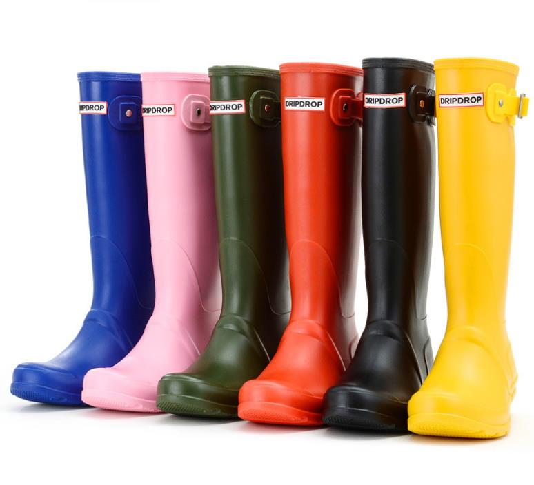Brand womens waterproof rubber rain boots wellies wellington boots 6 colours цена