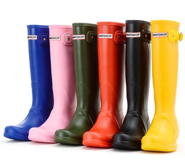 Thương hiệu womens cao su không thấm nước mưa khởi động wellies wellington khởi động 8 màu sắc