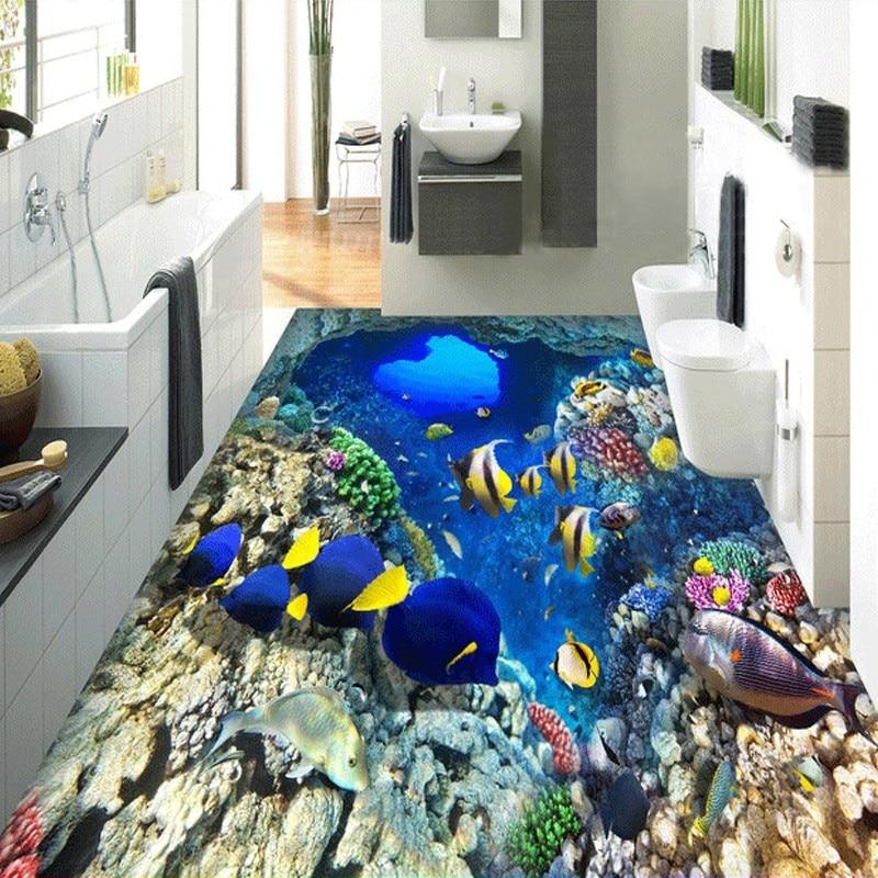 beibehang Mediterranean Shoal Fish Floor wallpaper for