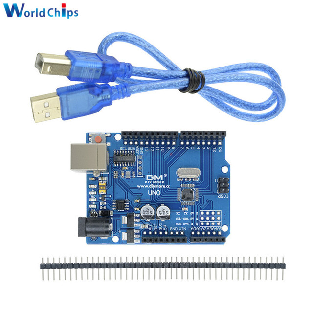 US $4 21 10% OFF|UNO R3 Development Board MEGA328P CH340 CH340G Module  Driver Shield With USB Cable Standard Pins Replace ATmega16U2 One-in  Integrated