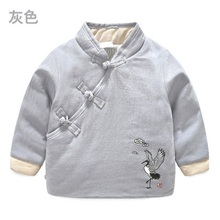 New Warm Girl Winter Clothes Chinese Style Jacket Children Clothing Windbreaker Jackets Casual Hooded Girls Thick Warm 2-8T