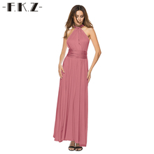Fkz Women Sexy Summer Wedding Bandage Dresses Backless Evening Party Dress Boho Maxi Long Robe Sleeveless Longue Femme Vestidos