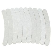 Fashion 10 x Grey Nail Files Sanding 100/180 Curve Banana for Nail Art Tips Manicure