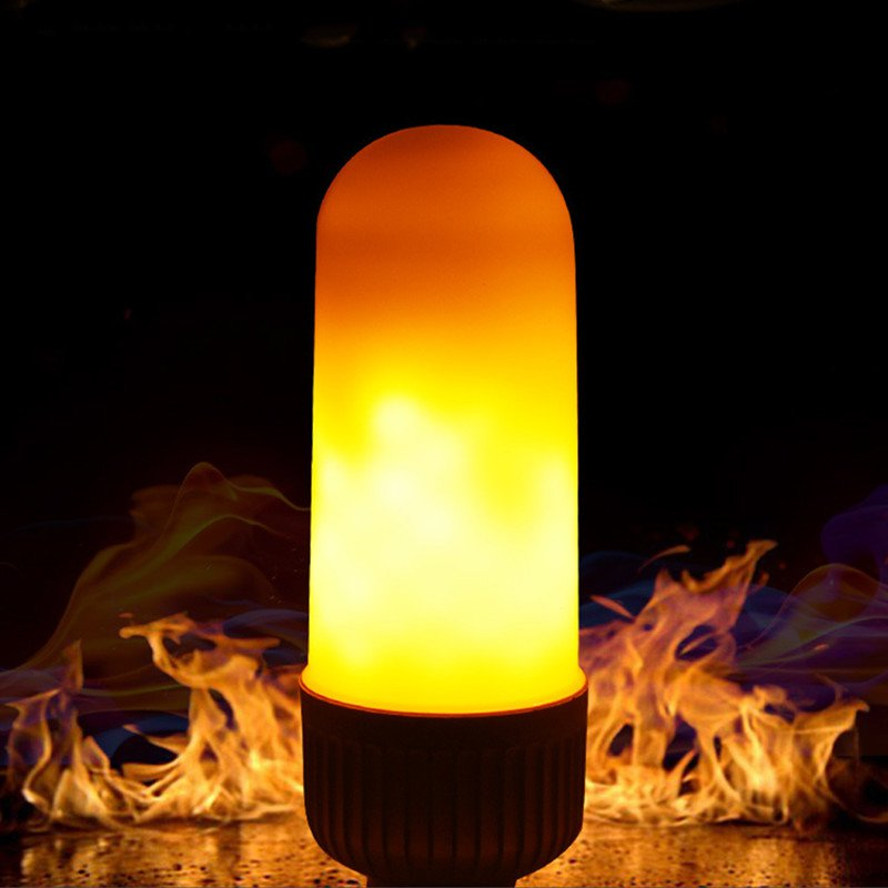 New Led Simulation Flame Effect LED Light Bulb E27 E26 Corn Lamp Emulation Fire Flicker Decoration lamp Flameless 110V 220V lan mu 220v flame fire light led bulb