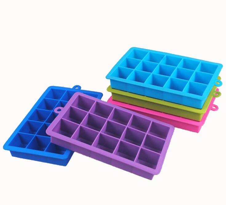 15 Grid Square Ice Cube Environmentally Food-Safe Silicone Ice Lattice Frozen Mini Cube Silicone Ice Tray