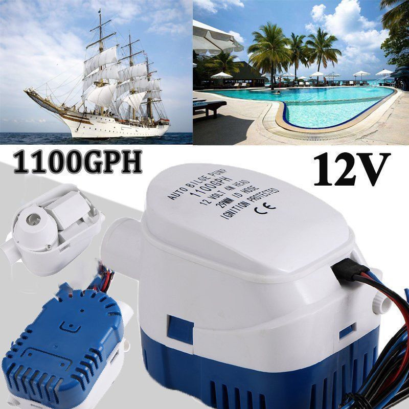 Automatic Bilge Pump 12V Submersible Bilge Water Pump with Switch for Auto Boat  DAG-shipAutomatic Bilge Pump 12V Submersible Bilge Water Pump with Switch for Auto Boat  DAG-ship