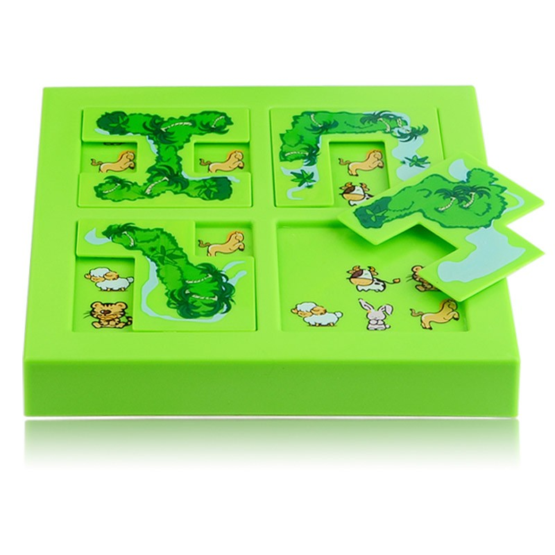 Quality New Kids Animal Maze Puzzle IQ Mind Logic Brain Teaser Puzzles Game Toys for Children 72 Questions 11