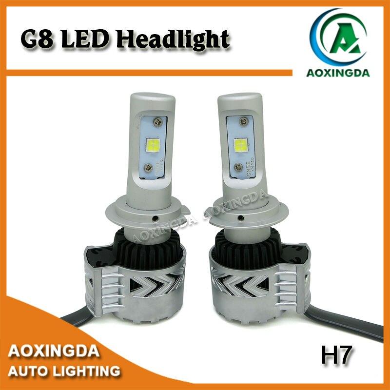 ФОТО 2 x Super bright H7 G8 car led headlight bulb kit XHP50 12000LM 6500K white