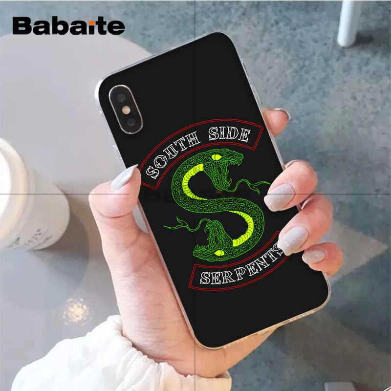 Babaite Riverdale South Side Serpents High Quality Soft TPU Phone Case for Apple iPhone 8 7 6 6S Plus X XS MAX 5 5S SE XR