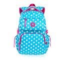 Небесно-голубой горошек рюкзаки для девочек-подростков школьные сумки школьник студент bookbag школьный женщины рюкзак mochila bagpack
