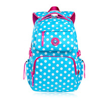 Sky Blue Polka Dot Backpacks For Teenage Girls School Bags Schoolboy Bagpack Student Bookbag Schoolbag Women