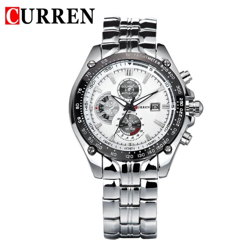 2016 Curren Luxury Brand Men Full Steel Business Wristwatches Casual Calendar Watch Quartz Watches relogio masculino 8083 curren 8058 watches men brand watch men white steel watch with calendar