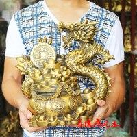 Большая компания магазин дома эффективный талисман защита, приносящий богатство приносящий удачу дракон золото китайский фэн шуй латунная