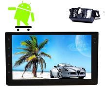 Android 6.0 Estéreo Del Coche dos 2Din en El Tablero de Navegación GPS Radio Unidad principal Teléfono Mirroring Full Touch Panel Del Coche NO DVD Player + cámara