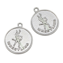 Buy wrestling charms and get free shipping on aliexpress customama 20pcs silver plated wrestling charms pendants aloadofball Image collections