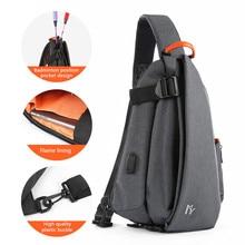 Chest Bag Men Multifunction Fashion Crossbody Bag Men USB Charging Chest Pack Short Trip Messengers Bag Water Repellent Shoulder все цены