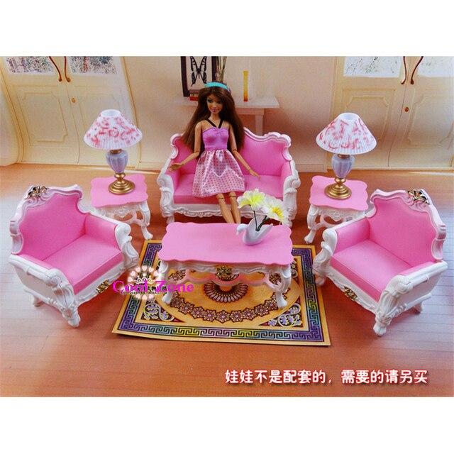 Miniatur Furniture Saya Hidup Mewah Ruang Tamu Set Untuk Barbie Boneka Rumah Terbaik Hadiah Mainan