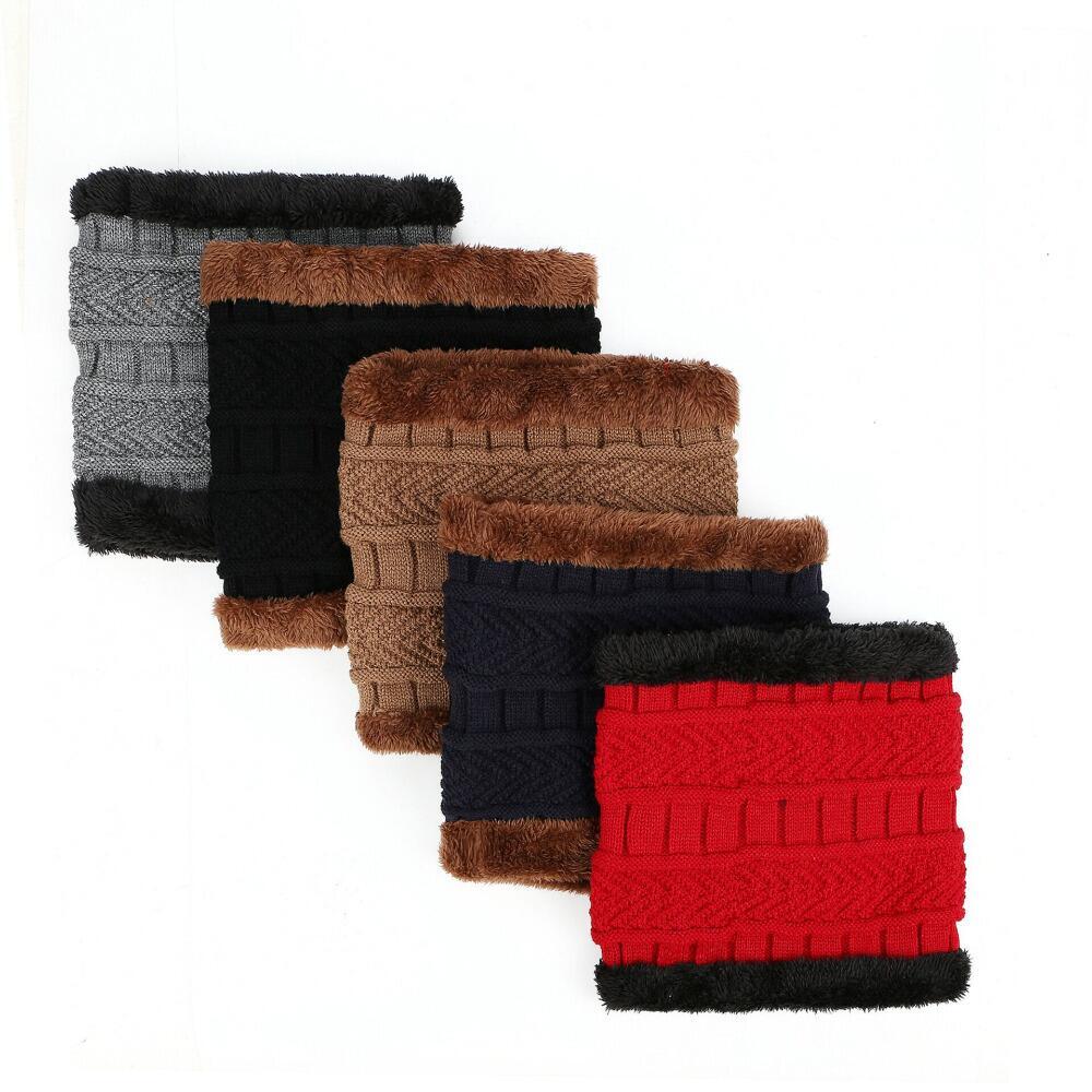 SUOGRY Neck warmer winter hat knit cap scarf cap Winter Hats For men knitted hat men Beanie Knit Hat Skullies Beanies 3