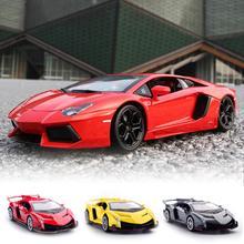 1:32 Veneno литая под давлением модель автомобиля звуковой светильник вытяните назад автомобиль игрушка автомобиль подарок на день рождения коллекционная игрушка