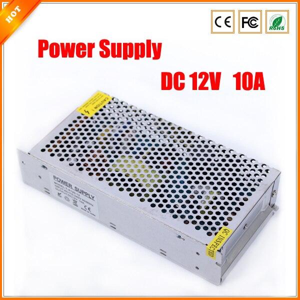 bilder für Hohe Qualität 12 V 10A 120 Watt Schalter Schaltnetzteil für cctv-kamera für Sicherheitssystem 110-240 V
