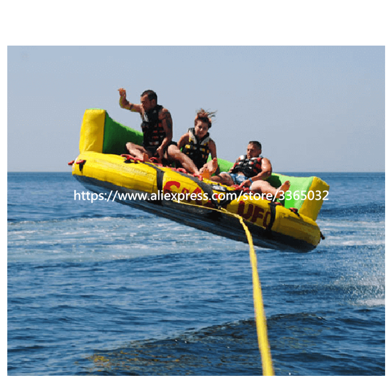 High Quality Inflatable Water Sports Flying Ski Sofa Towable Inflatable Crazy UFO