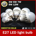 Wholesale High Power E27 Led Bulb 5730 SMD 3W 5W 7W 9W 10W 12W LED Lamp bulb 220V Light Bulb For Home Led Spotlight Lamps
