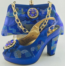 Italian African Shoes And Bag Set For Party In Women Italian Matching Shoe And Bag Set Wedding Woman Shoes ME6605