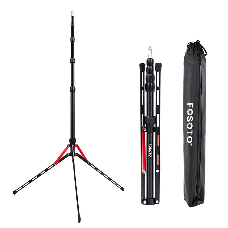 Fosoto FT-190B Red Led Light Tripod Stand Bag 2.2m Head Softbox For Photo Studio Photographic Lighting Flash Umbrella Reflector