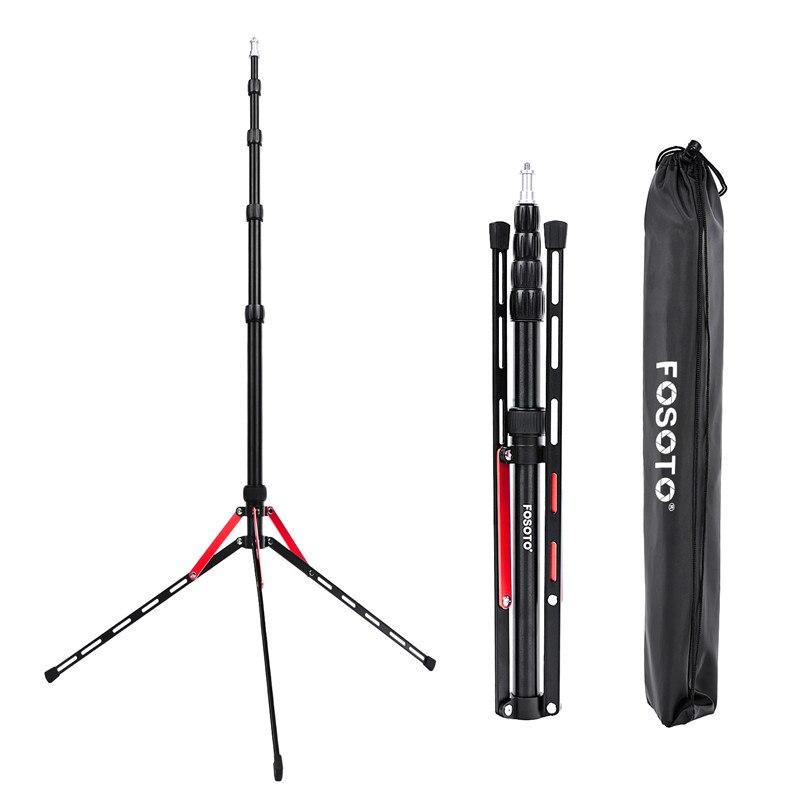 Fosoto FT 190B, красный светодиодный светильник, сумка для штатива, 2,2 м, головка, софтбокс для фотостудии, фотографический светильник, вспышка, зон