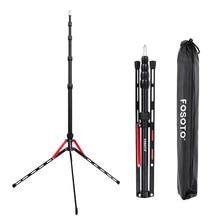 Fosoto FT-190B Red Led Light Tripod Stand Bag 2.2m Head Softbox For Photo Studio Photographic Lighting Flash Umbrella Reflector