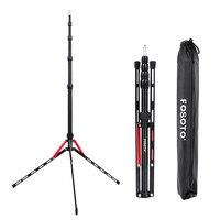 Fosoto FT 190B Red Led Light Tripod Stand Bag 2.2m Head Softbox For Photo Studio Photographic Lighting Flash Umbrella Reflector