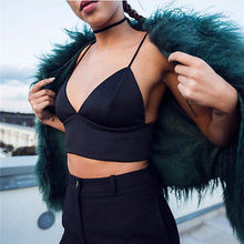 Women Bikini Top Bra UnPadded Black