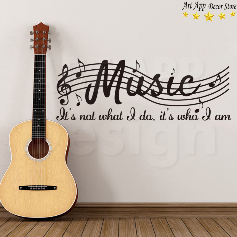 Us 3 41 Good Quality Art Design Cheap Home Decoration Vinyl Musical Notes Wall Sticker Removable House Decor Music Room Decals In Wall Stickers From