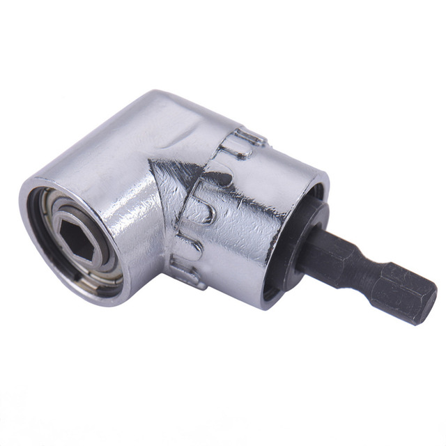 Magnetic 1/4 Inch Hex Drill Bit Socket Holder Adaptor Sleeve 105 Degree Angle Extension Right Driver Drilling Shank Screwdriver