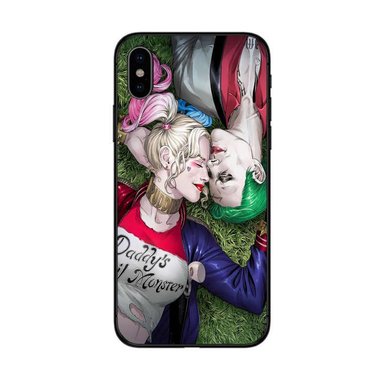 アベンジャーズマハーレークイン電話ケースのための iphone SE XR 5 6 5X7 8 6 S プラス XS 最大ケース s マーベルのスーパーヒーロースーパーマンカバー coque