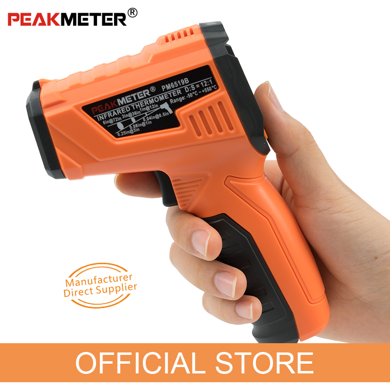 Image 3 - PEAKMETER PM6519B Laser LCD Digital IR Infrared Thermometer 