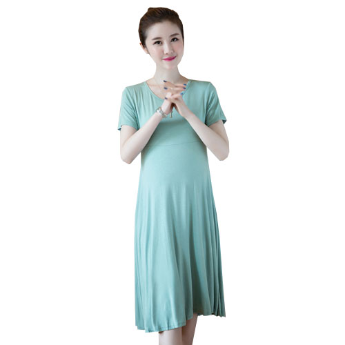 2018 summer maternity dress casual cotton maternity clothes uk ladies solid pregnant dresses vestido