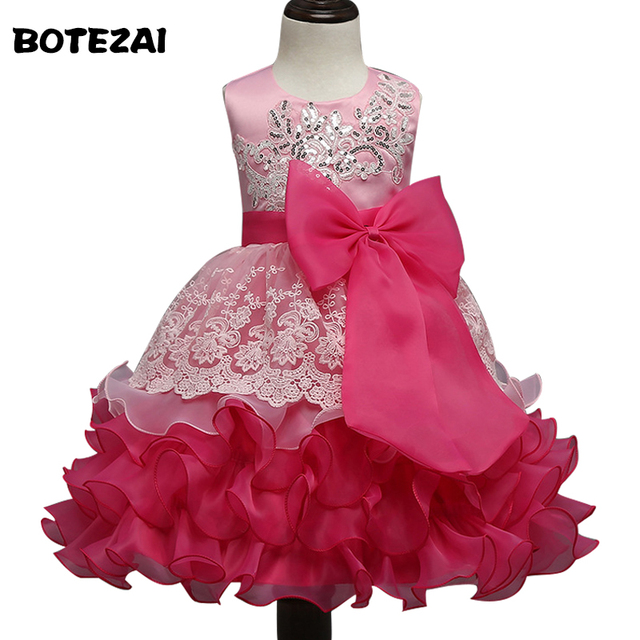 e3a9f8ca3f Summer Baby Girl Dress Children Kids Dresses For Girls 3 4 5 6 7 8 Year  Birthday Outfits Dresses Girls Evening Party Formal Wear